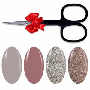 Kit Geluri Color Exclusive Premium, 4 Culori la Alegere + Forfecuta Cadou