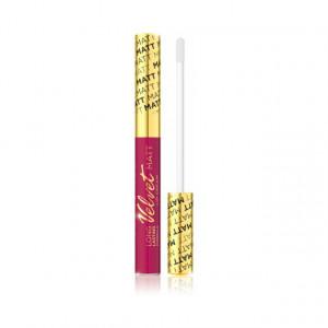 Luciu Buze Mat Catifelat Eveline Cosmetics, Wild Fuchsia