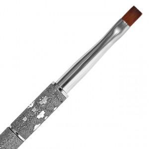 Pensula Gel Unghii, No 6, Maner si Capac Argintiu, Brand Fasio