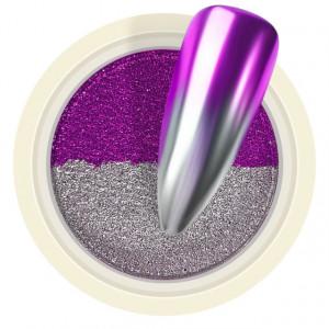 Pigment Pudra Chrome Dual Color, Culori Argintiu Violet