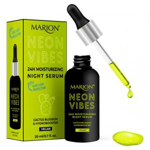 Ser de Noapte Hidratare 24h Vegan Neon Vibes Cactus Blossom & Hydrobooster, Marion