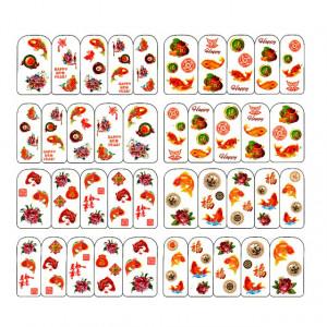 Stickere Unghii pe Baza de Apa, 4 Seturi, BOP/244 - BOP/247