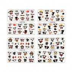 Stickere Unghii pe Baza de Apa BOP108-BOP111 (Abtibilduri Unghii - Tatuaje Unghii - Nail Stickere - Water Nail Art)