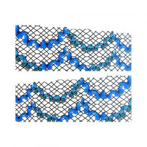 Stickere Unghii pe Bază de Apă, Model BUTTERFLY GARLANDS, Cod LR-990 (Abtibilduri Unghii - Tatuaje Unghii - Nail Stickere - Water Nail Art)