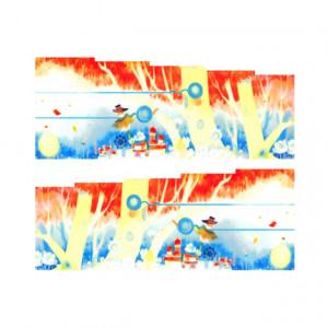 Stickere Unghii pe Bază de Apă, Model NATURA 01, Cod LR-774 (Abtibilduri Unghii - Tatuaje Unghii - Nail Stickere - Water Nail Art)