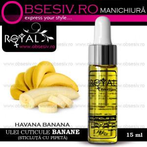 Ulei Cuticule Banane, Royal Femme Havana Banana, 15 ml