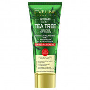 Crema Ser Maini Puternic Hranitoare Antibacteriana 3in1 Botanic Expert Tea Tree Oil 100% Pure Eveline