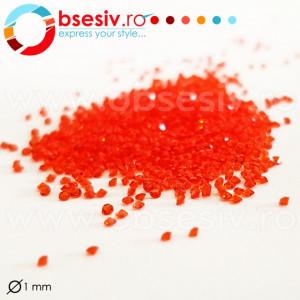 Cristale Pixie Unghii Diametru 1mm, 1440 Buc, Culoare Rosu