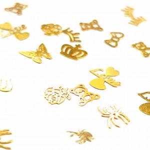Decoratiuni Metalice Unghii Marimi si Forme Diferite, Disc Nail Art
