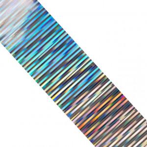 Folie Decorativa Transfer Manichiura, Metallic Multicolored Silver