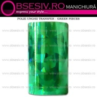 Folie Unghii Transfer - GREEN PIECES - Folii Decorative Unghii
