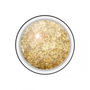 Gel colorat unghii Royal Femme ANTIQUE GOLD GLITTER (Geluri Profesionale Unghii)