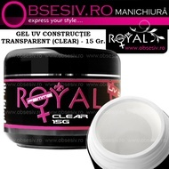 Gel UV  3in1 Baza, Constructie si Finish (Clear Transparent) 15ml - Royal Femme