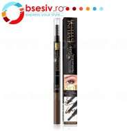 Kit Sprancene 3in1 Eveline Cosmetics Brow Multifunction Styler , 02 Dark Brown