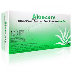 Manusi Examinare din Latex cu Aloe Vera AloeCare Green 100 Buc