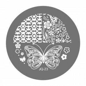 Matrite Stampile Unghii, Cod JQ-23, Accesorii Profesionale Manichiura