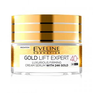 Ser de Lux si Crema Antirid pentru Fermitatea Tenului Gold 24K Lift Expert 40+ Eveline Cosmetics