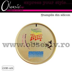 Stampila din silicon pentru decor unghii - A31 (Matrita Unghii)