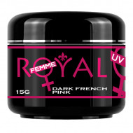 Gel UV Dark French Pink Royal Femme, Cover, 15 ml