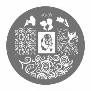 Matrite Stampile Unghii, Cod JQ-05, Accesorii Profesionale Manichiura