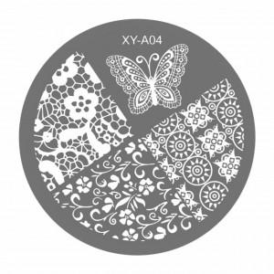 Matrite Stampile Unghii, Cod XY-A04, Accesorii Profesionale Manichiura