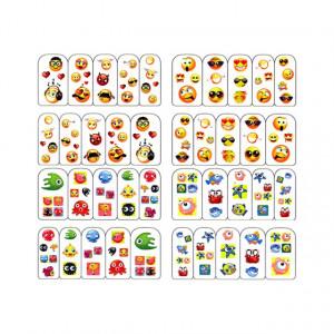 Abţibilde pe Bază de Apă (4 seturi) BOP/136 - BOP/139 (Abtibilduri Unghii - Tatuaje Unghii - Nail Stickere - Water Nail Art)