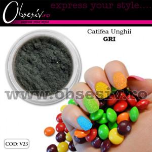 Catifea Unghii V23 - Gri (Velvet Nails)