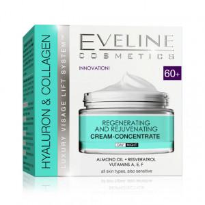 Crema Concentrata Regenerare si Intinerire Riduri Hyaluron & Collagen 60+ Eveline Cosmetics