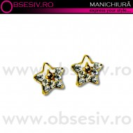 Decor Ornamental Unghii, GOLD STARS (Ornamente Nail Art Unghii)