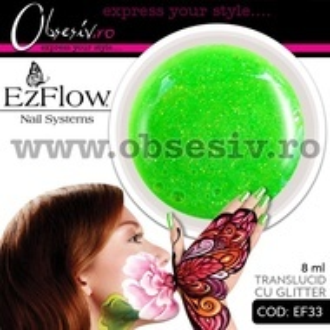 Gel color unghii Ez Flow - EF33 Glitter (Geluri profesionale EzFlow)