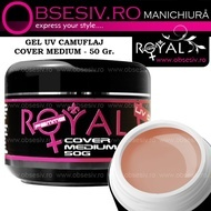 Gel Cover Medium - 50ml (Gel Camuflaj - Gel Constructie) - Royal Femme
