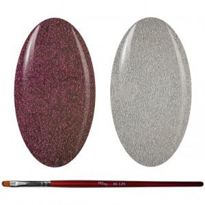 Kit Geluri Color + Pensula Gel Unghii, Cod K2GP-45S/55S