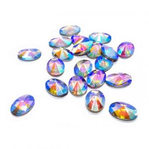 Pietre Unghii, Forma Ovala, Reflexii Multicolore
