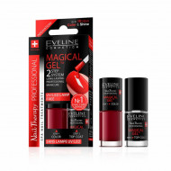 Set Lac Unghii cu Tratament si Top Coat, Magical Gel Eveline Cosmetics, No 04