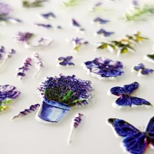 Stickere Unghii 5D, Model Floral, LAV01