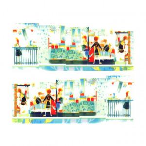 Stickere Unghii pe Bază de Apă, Model HOME DECO, Cod LR-771 (Abtibilduri Unghii - Tatuaje Unghii - Nail Stickere - Water Nail Art)