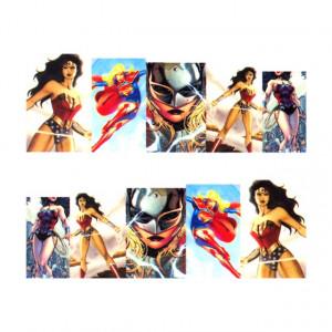 Stickere Unghii pe Bază de Apă (WOMEN SUPERHEROES), Cod LR-701 (Abtibilduri Unghii - Tatuaje Unghii - Nail Stickere - Water Nail Art)