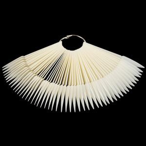 Tipsuri Stiletto Ascutie pe Inel Culoare Naturala 50 Palete