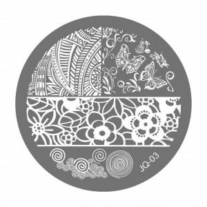 Matrite Stampile Unghii, Cod JQ-03, Accesorii Profesionale Manichiura