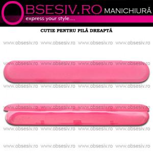 Cutie Pila Unghii Culoare Roz