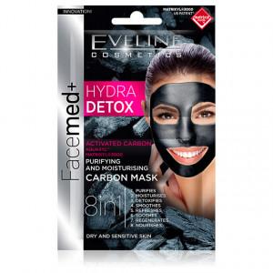 Masca Purificare si Hidratare Ten Uscat si Sensibil HYDRA Deep Detox Aquaxyl™ Eveline