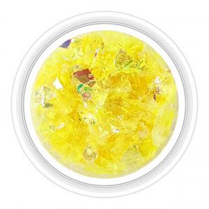 Paiete Unghii Efect de Gheata Culoare Galben, Cod PG-G10