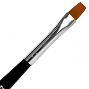 Pensula Gel Dreapta, No 8, Pensula cu Maner si Capac Metalic, Jerome Stage