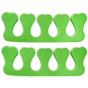 Separatoare Degete Manichiura si Pedichiura, Culoare Verde