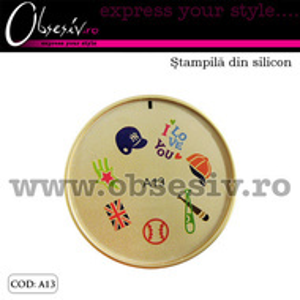 Stampila din silicon pentru decor unghii - A13 (Matrita Unghii)