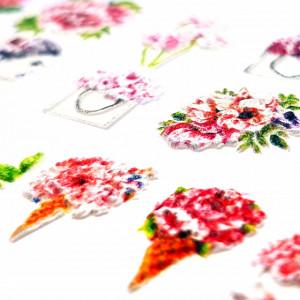 Stickere Unghii cu Modele Decorative 5D 'SpQring si Here', MG190623-01