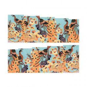 Stickere Unghii pe Bază de Apă, Model PEACOCK, Cod LR-2100 (Abtibilduri Unghii - Tatuaje Unghii - Nail Stickere - Water Nail Art)