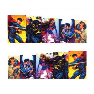 Stickere Unghii pe Bază de Apă (SUPERHEROES), Cod LR-699 (Abtibilduri Unghii - Tatuaje Unghii - Nail Stickere - Water Nail Art)