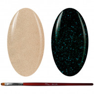Kit Geluri Color + Pensula Gel Unghii, Cod K2GP-63S/40G