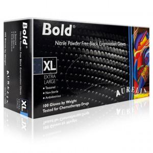 Manusi Examinare si Protectie Nepudrate Aurelia® Bold® Black 100 Buc
